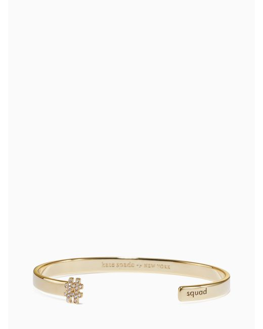 Kate Spade - Blue #livecolorfully Squad Cuff - Lyst
