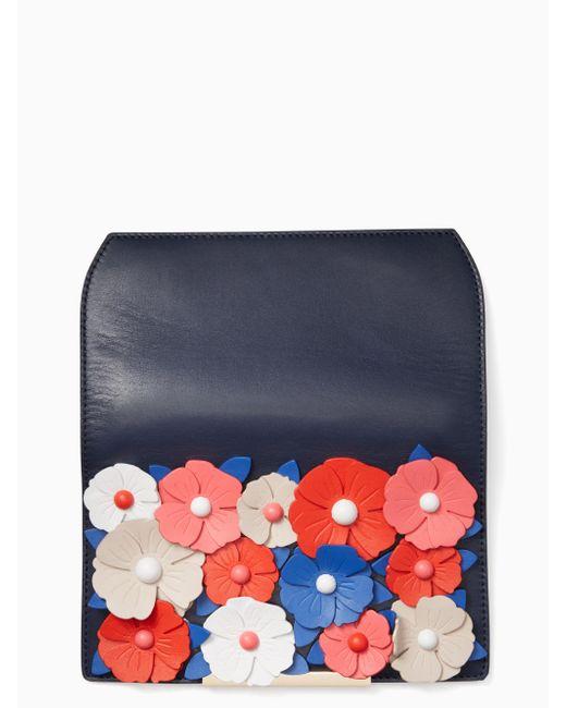 Kate Spade - Blue Make It Mine Daisy Lane Floral Flap - Lyst