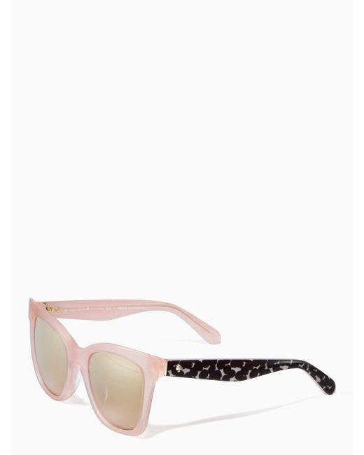 Kate Spade   Pink Emmylou Sunglasses   Lyst