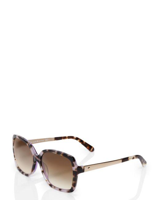 Kate Spade | Brown Darilynn Sunglasses | Lyst