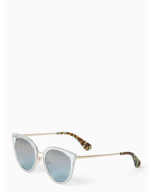 Kate Spade | Metallic Jazzlyn Sunglasses | Lyst