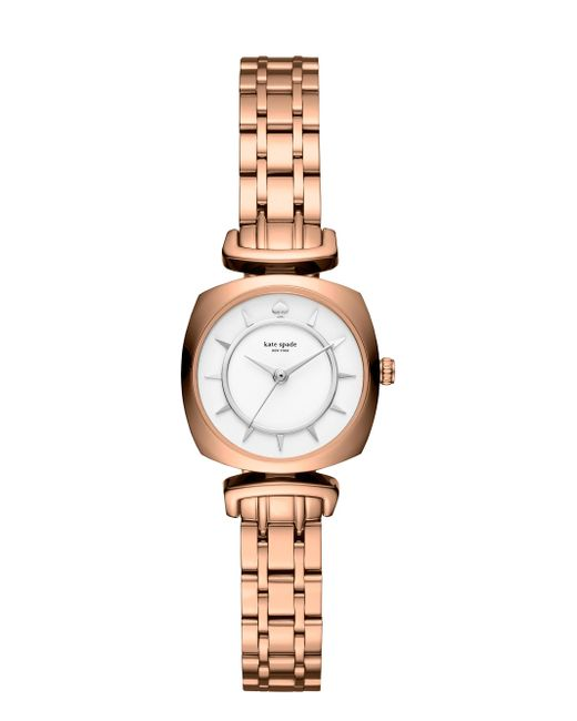 Kate Spade | Metallic Rose Gold Mini Barrow Watch | Lyst