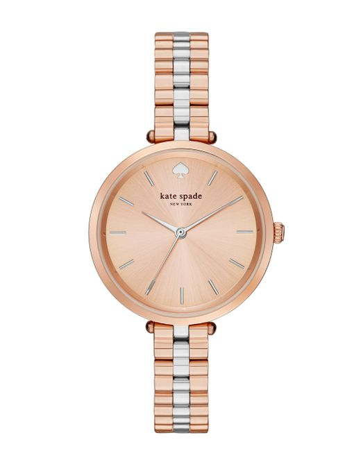 kate spade new york | Pink Holland Skinny Bracelet Watch | Lyst