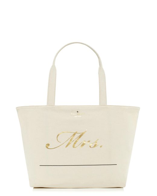 kate spade new york | Multicolor Wedding Belles Customizable Mrs Tote | Lyst