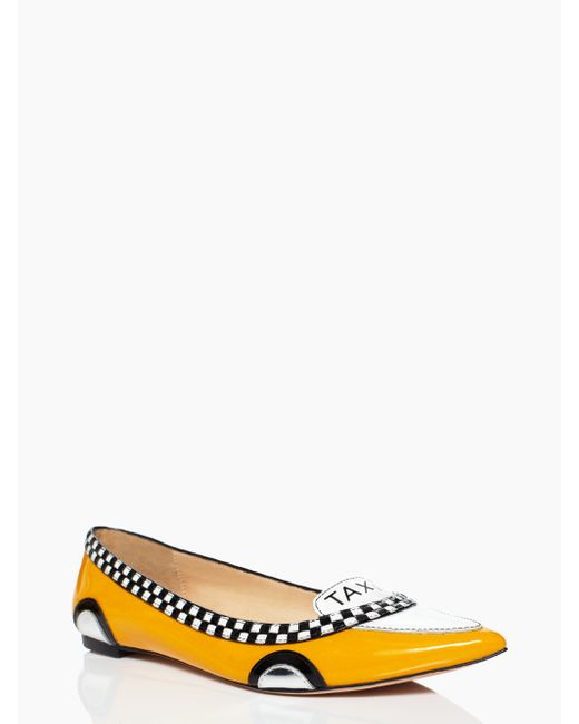 kate spade new york | Yellow Go Taxi Flats | Lyst