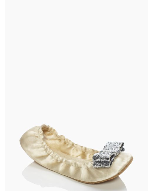 kate spade new york | White Cayman Slippers | Lyst