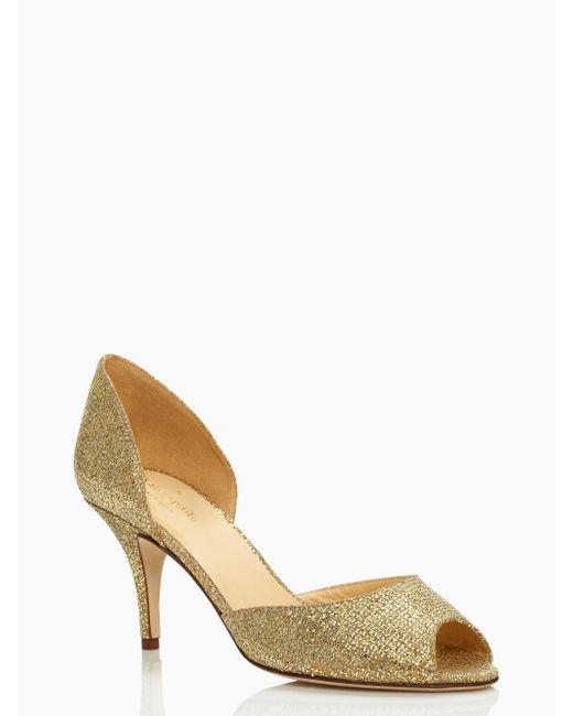 kate spade new york | Metallic Sage Heels | Lyst