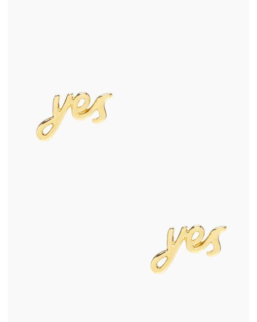 kate spade new york | Metallic Say Yes Studs | Lyst