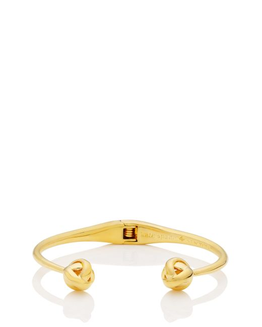 kate spade new york | Metallic Dainty Sparklers Knot Cuff | Lyst