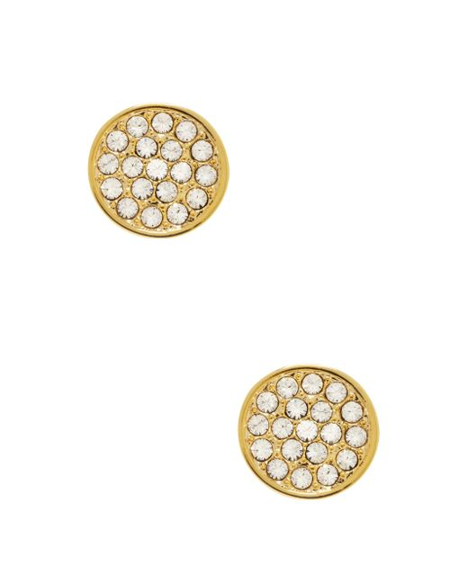 kate spade new york | Metallic Dainty Sparklers Pave Disc Studs | Lyst