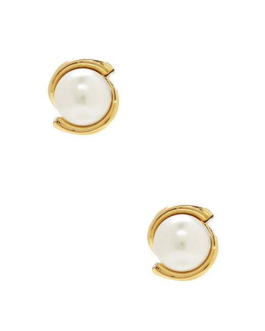 kate spade new york | Metallic Dainty Sparklers Pearl Studs | Lyst