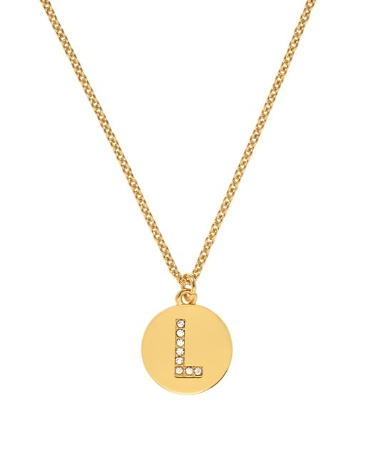 kate spade new york | Metallic Pave Initial Pendant | Lyst