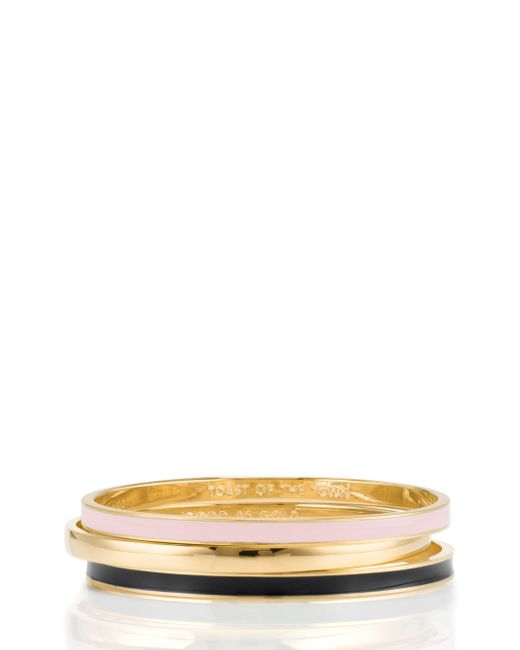 kate spade new york | Pink Friendship Idiom Bangles (set Of Three) | Lyst