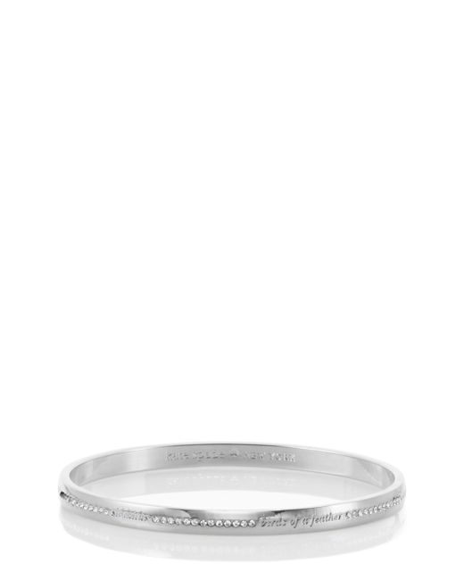 kate spade new york | Metallic Pave Bridesmaid Idiom Bangle | Lyst