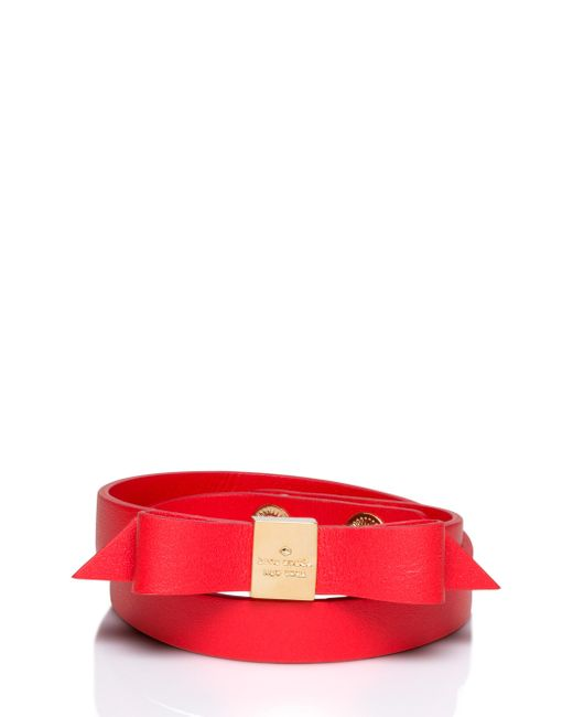 kate spade wrap things up leather bow wrap bracelet lyst. Black Bedroom Furniture Sets. Home Design Ideas