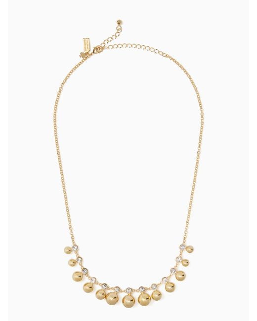 Kate Spade | Metallic Golden Girl Mini Necklace | Lyst