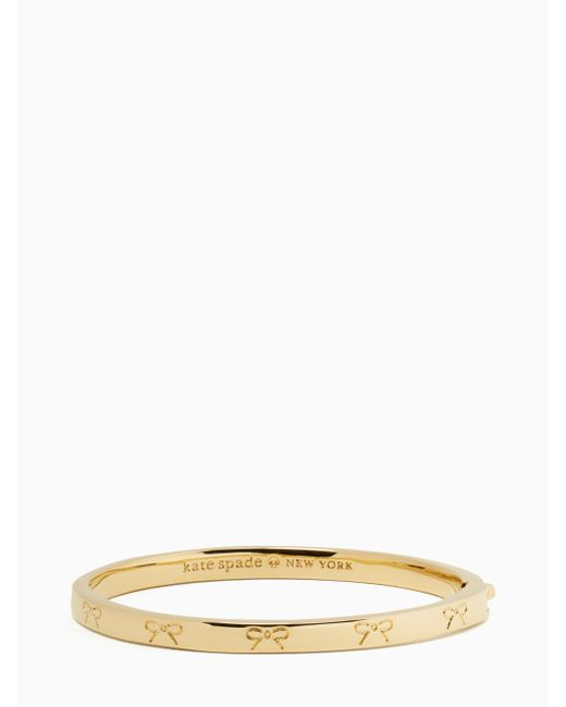 Kate Spade   Metallic Heavy Metals Engraved Bow Bangle   Lyst
