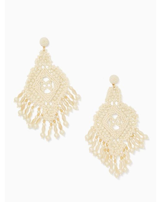 Kate Spade | Multicolor Lace It Up Lace Statement Earrings | Lyst