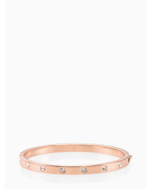 Kate Spade - Multicolor Set In Stone Stone Hinged Bangle - Lyst