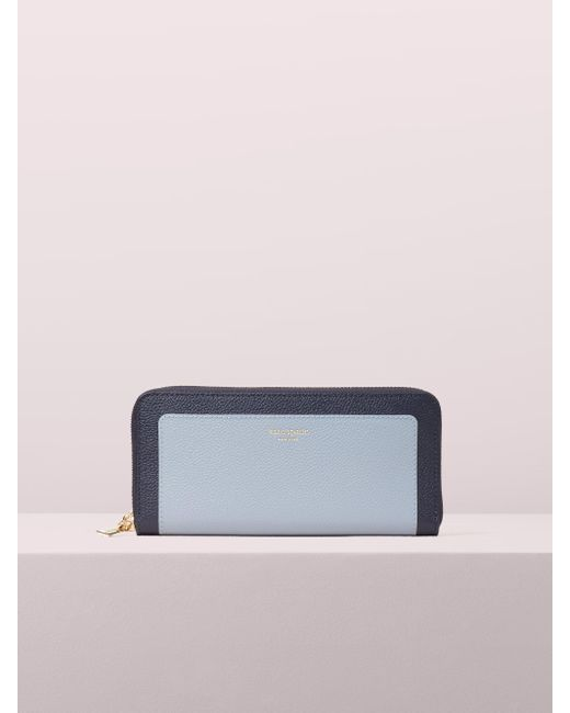 Kate Spade - Blue Margaux Slim Continental Wallet - Lyst