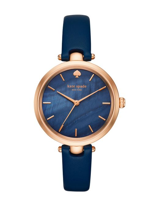 Kate Spade - Blue Holland Skinny Strap Watch - Lyst