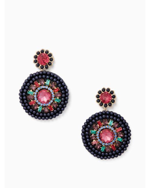 Kate Spade | Multicolor Luminous Leather Statement Earrings | Lyst