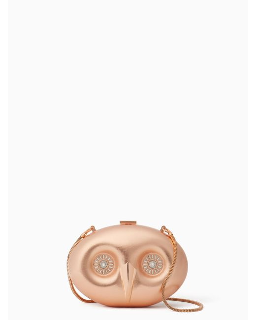 Kate Spade | Pink Evening Belles Owl Clutch | Lyst