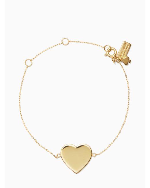 Kate Spade - Metallic You Name It Heart Line Bracelet - Lyst