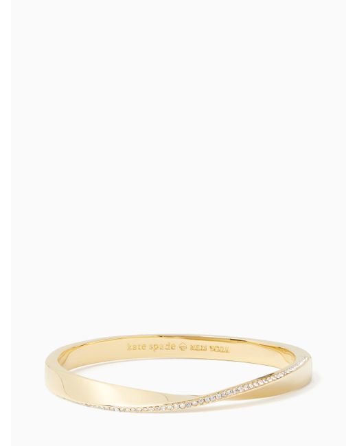 Kate Spade | Multicolor Do The Twist Pave Hinged Bangle | Lyst