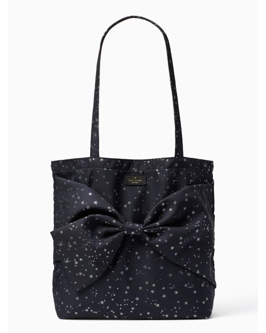 Kate Spade | Black On Purpose Starry Night Fabric Tote | Lyst