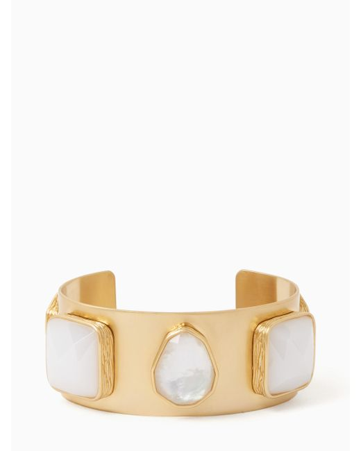 Kate Spade | White On The Rocks Five Stone Cuff | Lyst