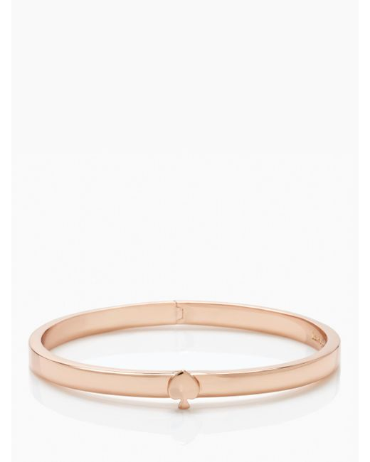 Kate Spade - Pink Spade Bangles Thin Hinge Bangle - Lyst