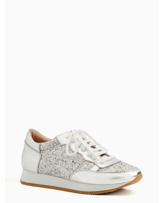Kate Spade - Metallic Felicia Glitter Runner Sneakers - Lyst