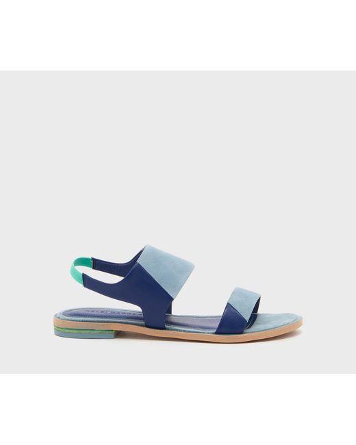 Kelsi Dagger Brooklyn - Blue Rogan Flat Sandal - Lyst