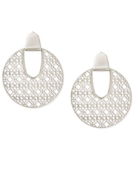 Kendra Scott - Diane Earrings In Metallic Silver. - Lyst