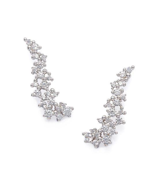 Kendra Scott - Metallic Petunia Ear Climbers In Silver - Lyst