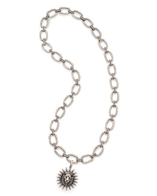 Kendra Scott - Metallic Athena Long Pendant Necklace In Antique Silver - Lyst