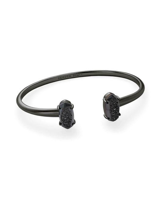 Kendra Scott - Black Edie Gunmetal Cuff Bracelet - Lyst