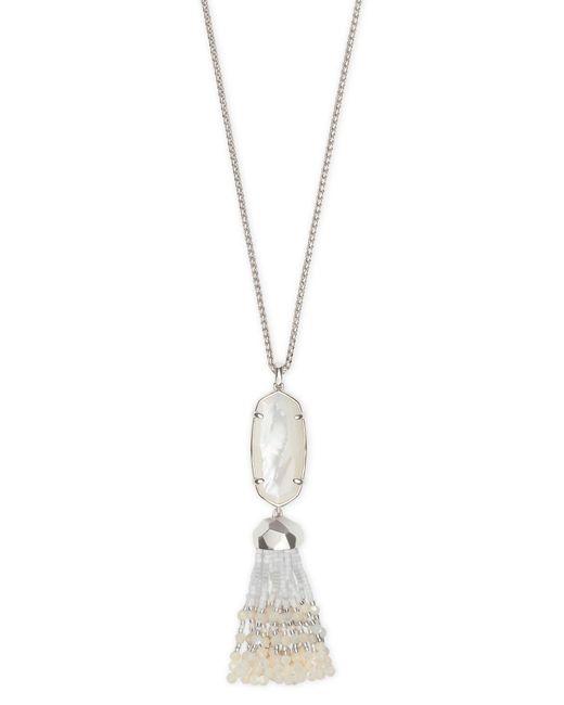 Kendra Scott - Metallic Eva Silver Long Pendant Necklace - Lyst
