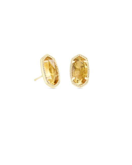 Kendra Scott - Metallic Ellie Gold Stud Earrings - Lyst