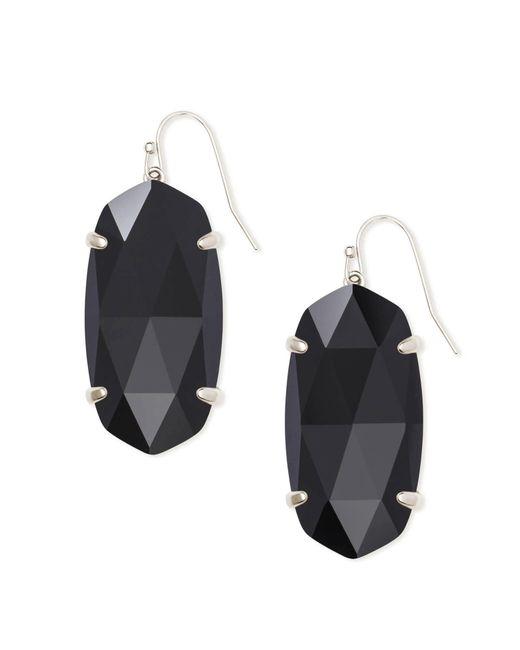 Kendra Scott - Black Esme Silver Drop Earrings - Lyst
