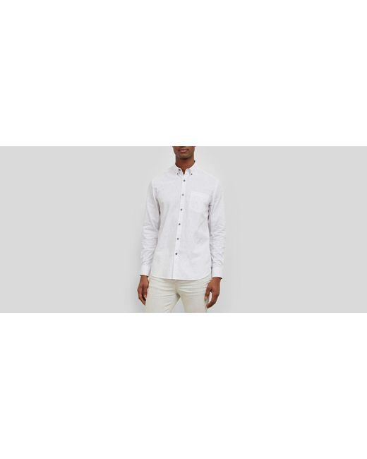 Kenneth Cole - White Long-sleeve Line Print Shirt for Men - Lyst