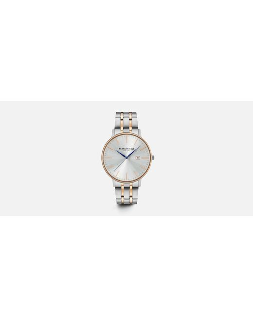 Kenneth Cole - Metallic Silver And Rose Gold-tone Accent Watch - Lyst