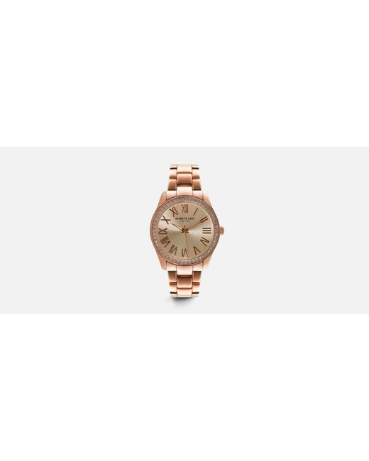 Kenneth Cole - Metallic Classic Rose Gold-tone Round Watch - Lyst