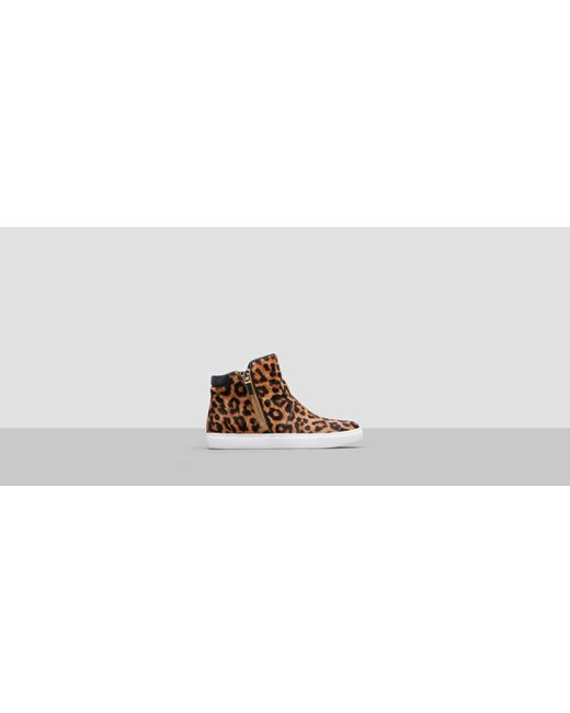 Kenneth Cole Kiera Mixed Media Sneaker In Natural Lyst