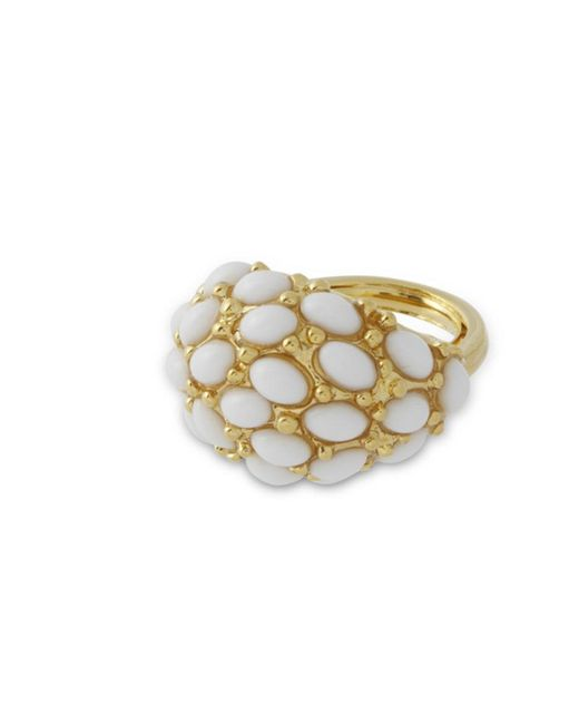 Kenneth Jay Lane | White Cabochon Ring | Lyst