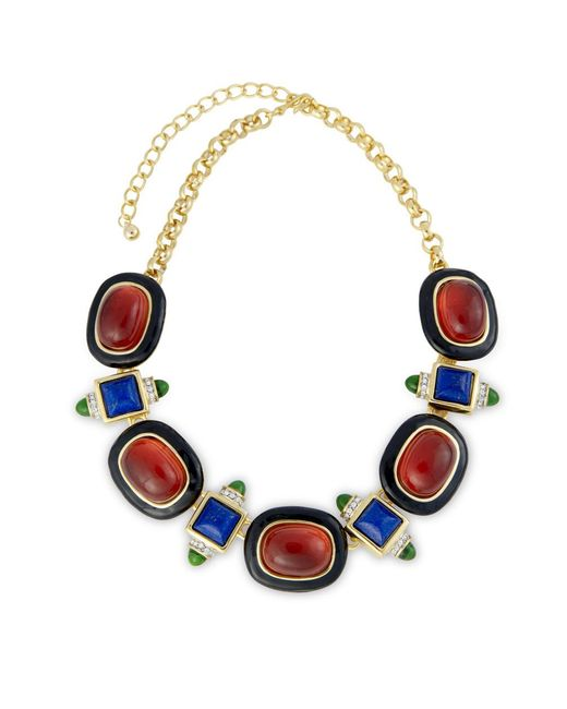 Kenneth Jay Lane | Red Black And Ruby Necklace | Lyst