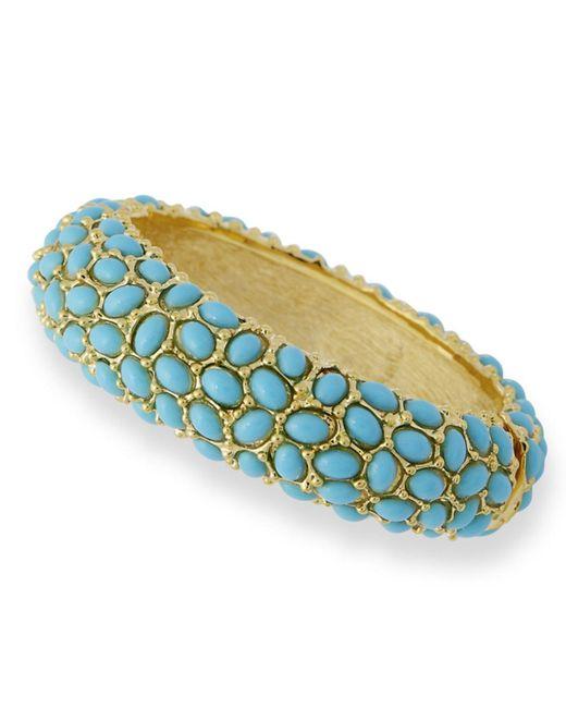 Kenneth Jay Lane | Blue Turquoise Cabochon Bracelet | Lyst