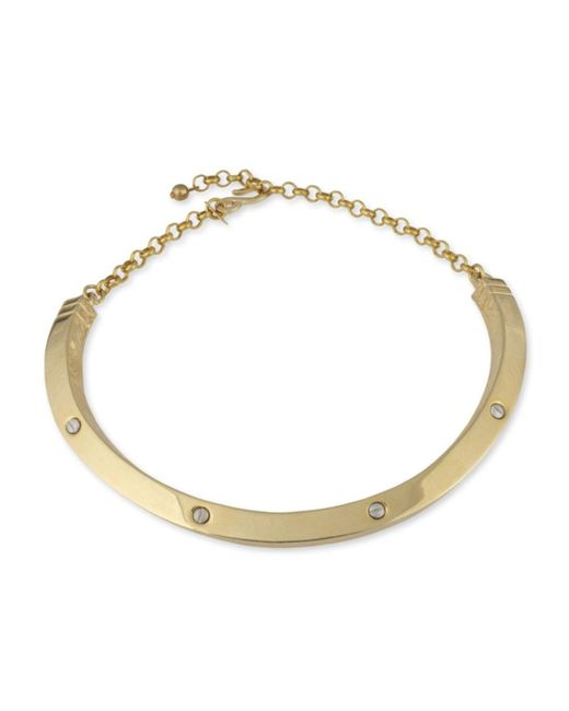 Kenneth Jay Lane | Metallic Polished Gold Collar Necklace | Lyst