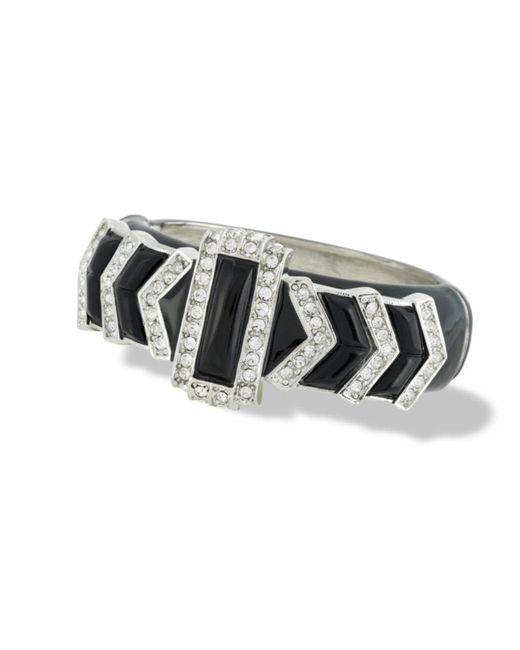 Kenneth Jay Lane | Black Art Deco Bracelet | Lyst